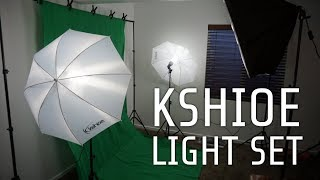 review of kshioe photography lighting set with umbrellas softboxes and backdrops