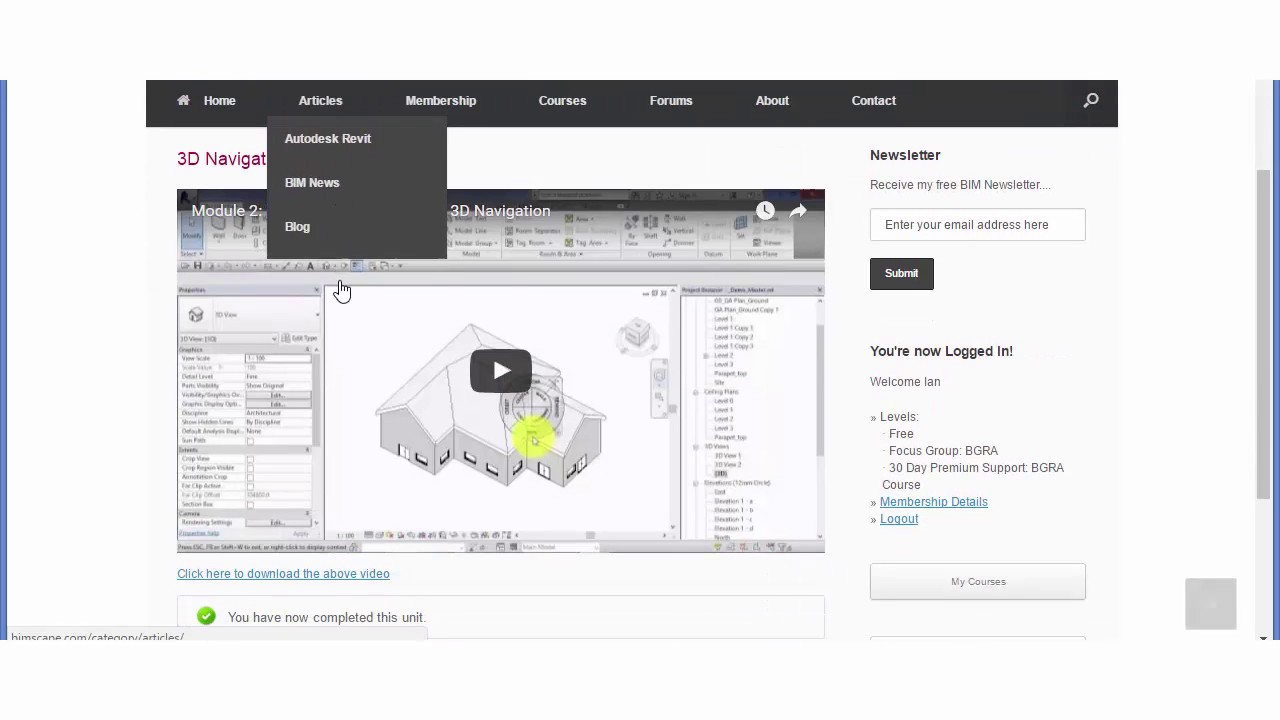 learning autodesk revit architecture 2015 training video free download
