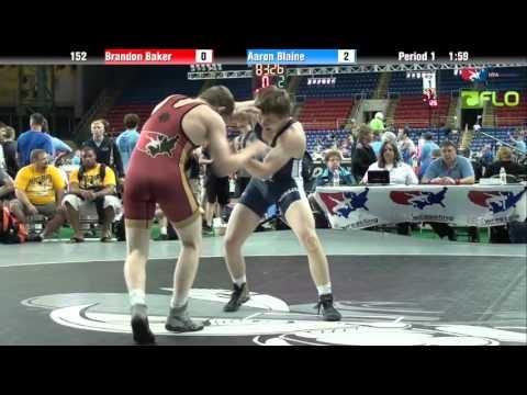 Junior 152 - Brandon Baker (Missouri) vs. Aaron Blaine (Washington)