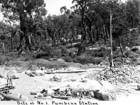 Mundaring Weir Historical DAM CONSTRUCTION 1898-1901 PERTH WESTERN AUSTRALIA