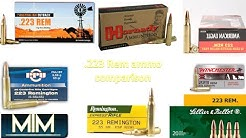 .223 Remington Ammunition comparison