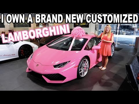 I GOT A PINK LAMBORGHINI FOR MY BIRTHDAY!!!
