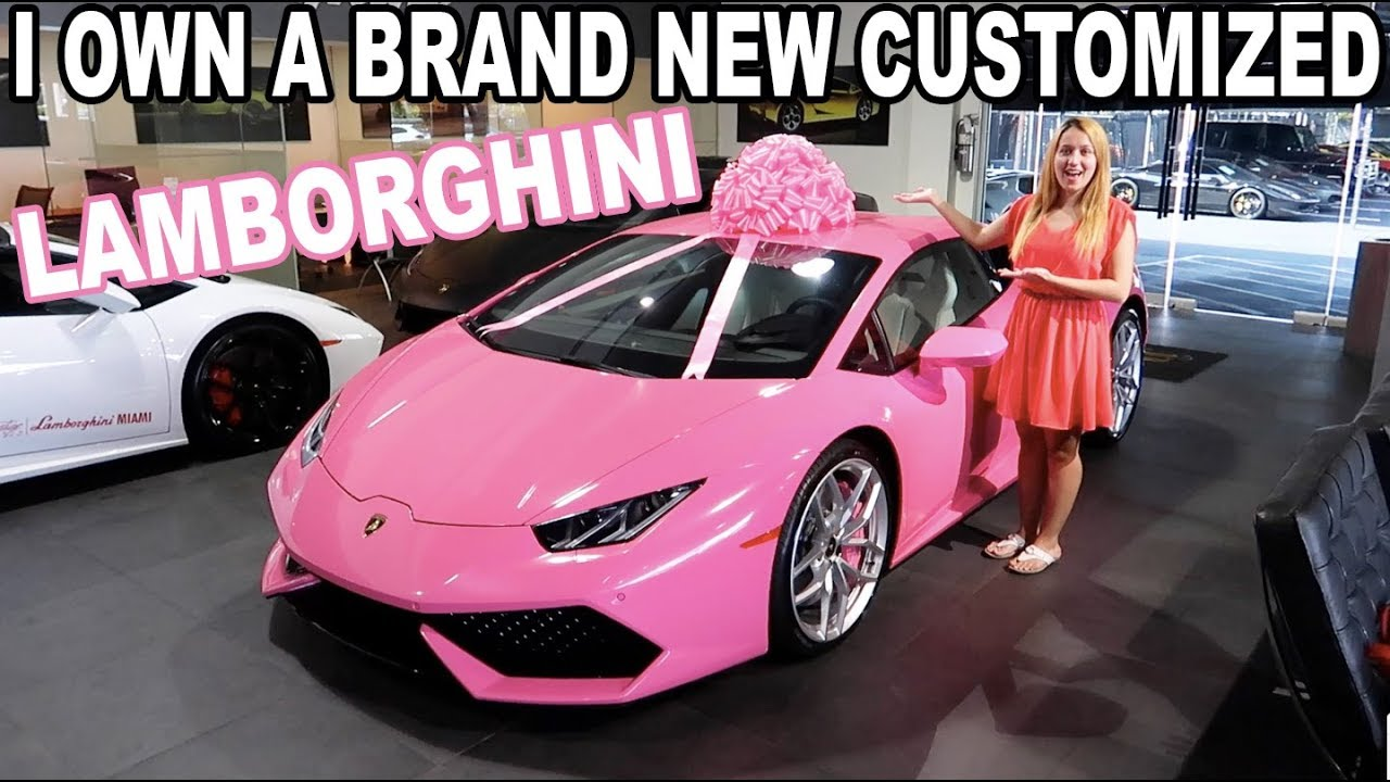 I Got A Pink Lamborghini For My Birthday Youtube