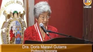 UNMSM distingue como Profesora Honoraria a la Dra  Doris Maraví Gutarra