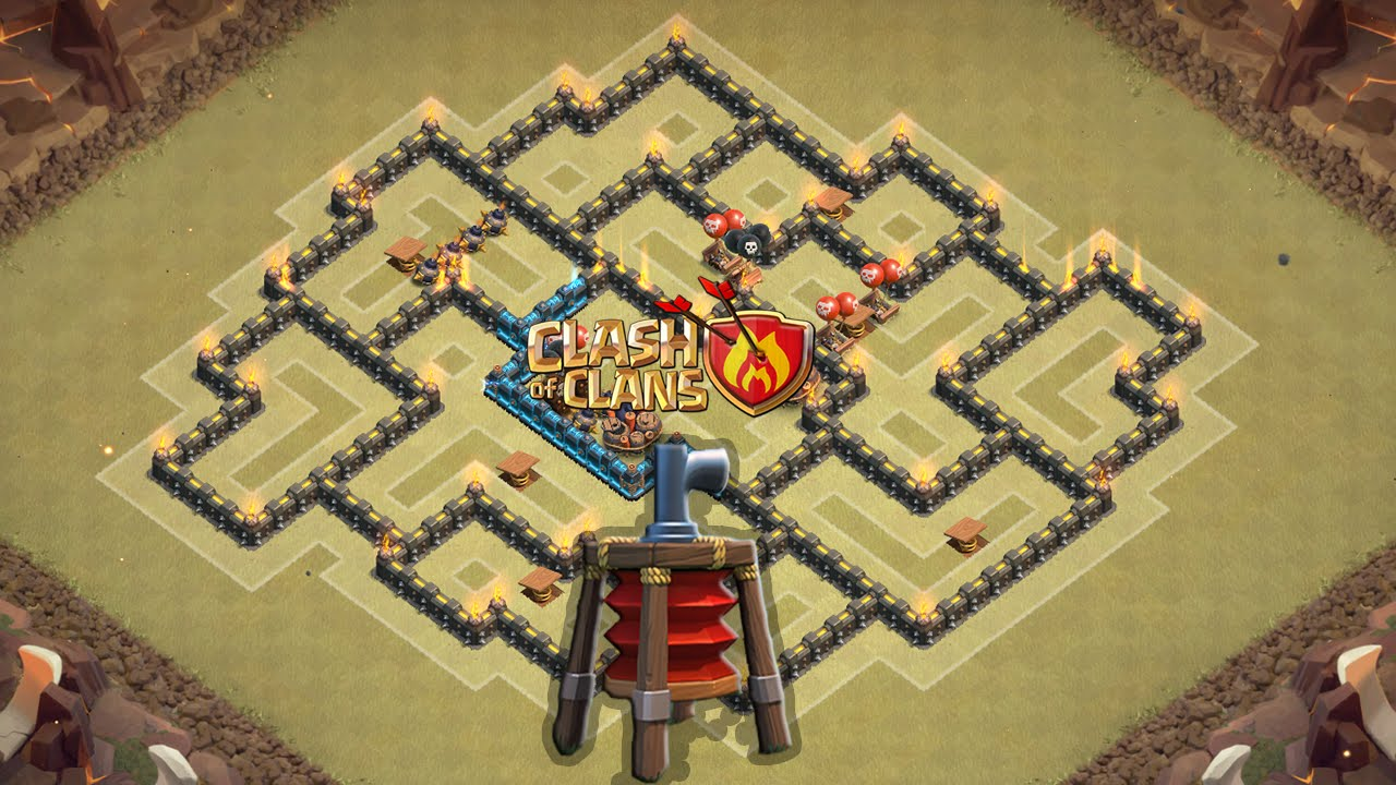 clash of clans melhor layout de guerra para cv8 th8 2015