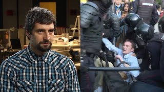 Москвич о том, почему заступился за незнакомца на протесте в Москве