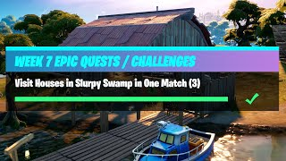 Visit Houses in Slurpy Swamp in One Match (3) All Locations - Fortnite Week 7 Challenges