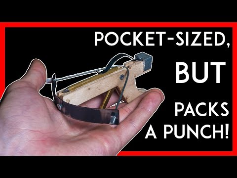 This DIY Mini Crossbow is Simple AND Effective!