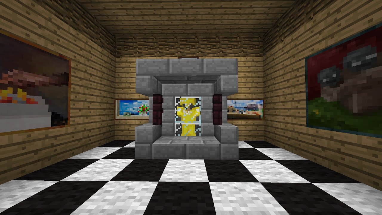 tuto minecraft comment faire une vitrine youtube. Black Bedroom Furniture Sets. Home Design Ideas