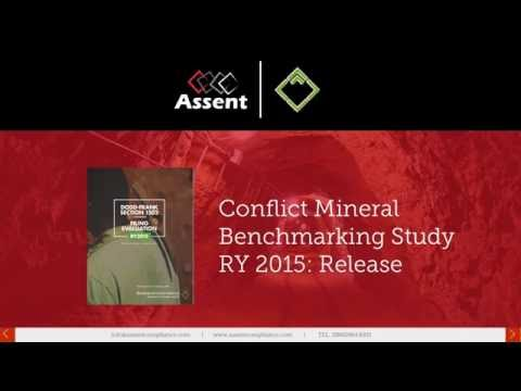 Conflict Mineral Benchmarking Study RY2015 Launch