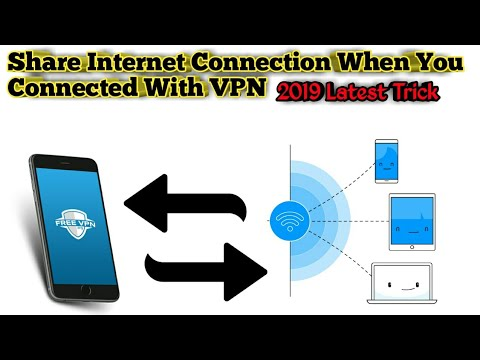 Share VPN Internet Connection Via Hotspot To Another Android/PC/Iphone 2019 Latest Trick Hindi/Urdu.