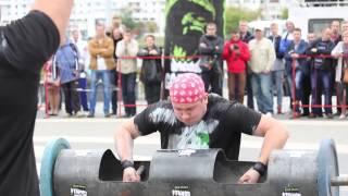 Strongman: Жимовая эстафета ось Апполона гиганская гантель 87кг стронгменовское бревно120кг