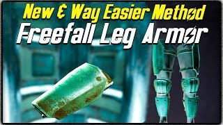 Fallout 4 NEW EASY METHOD TO GET FREEFALL LEG ARMOR! Rarest Item in the Game!