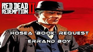 Red Dead Redemption 2 (RDR2) I Hosea Item Request 'Book' (Errand Boy Trophy / Achievement)