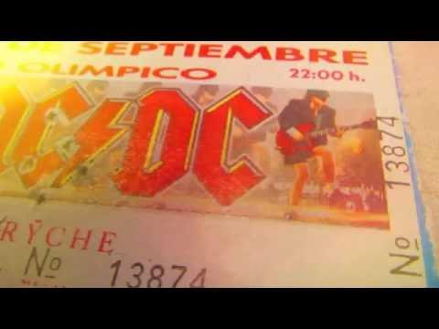 MUESTRA DE ENTRADA ''AC DC'' mas Metallica mas Queesryche. 1991.