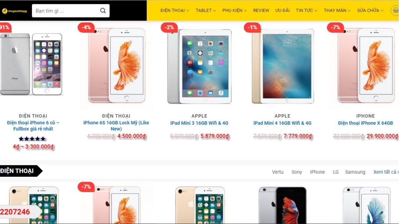 Hướng dẫn làm website bán hàng điện thoại, phụ kiện chuyên nghiệp