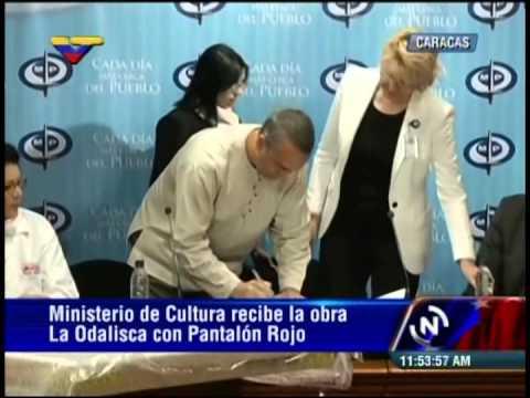 Ministerio Público entrega la Odalisca con Pantalón Rojo al Ministerio de la Cultura