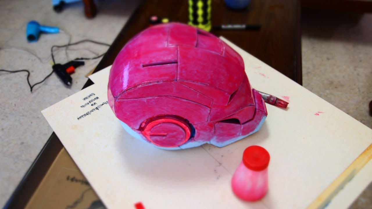 5 Iron Man Helmet DIY Foam With Template YouTube