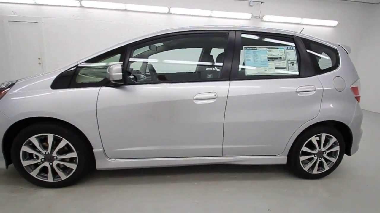 2013 Honda Fit Sport Alabaster Silver Metallic - YouTube