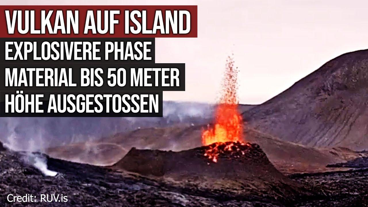 Vulkan Island - Explosivere Phase - Material bis 50 Meter Höhe ausgestossen