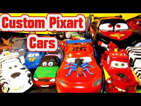 Pixar Cars Custom Creations with Poster Art Lightning McQueen from Disney Cars and Cars 3