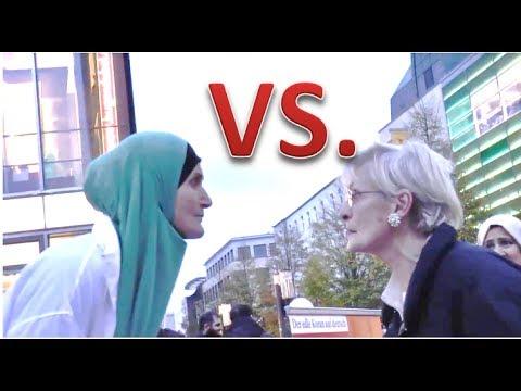 DEUTSCHE VS. MUSLIMA  | Oma beleidigt den Islam