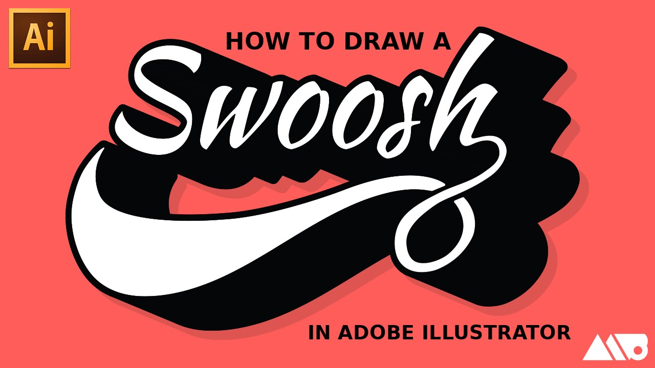 how to draw a swoosh in adobe illustrator tutorial youtube rh youtube com