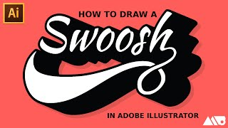 How to Draw a Swoosh in Adobe Illustrator Tutorial