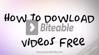 How to download Biteable video for free on pc 2017