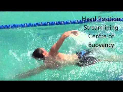 Biomechanics when swimming