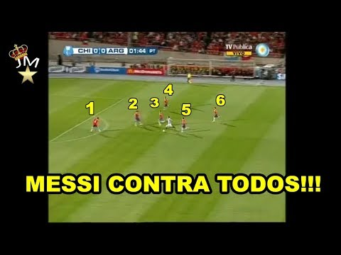 El dia que Lionel Messi le dio una clase de Futbol a TODO CHILE (2012)