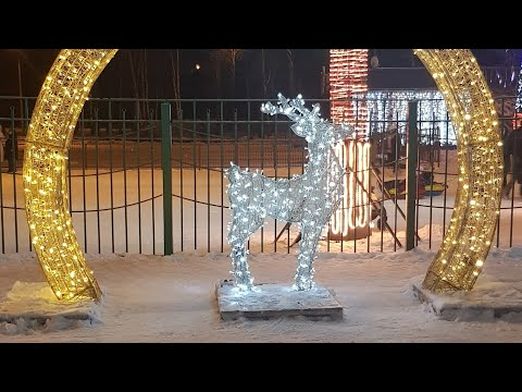 Сормовский парк. Каток . г.Нижний Новгород зима 2020 Обзор