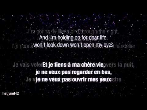 Sia   Chandelier ( Lyrics+ traduction)