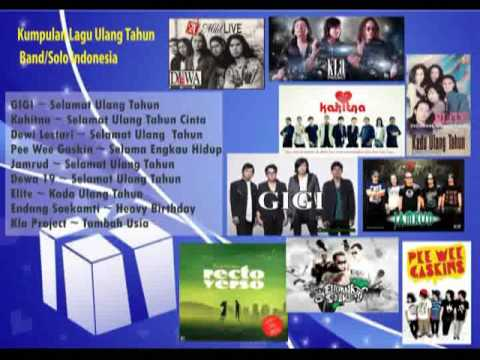 Kumpulan Lagu Tema Ulang Tahun Band dan Solo Indonesia