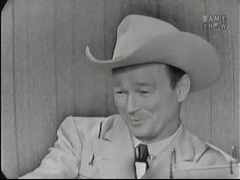 What's My Line? - Roy Rogers; David Niven [panel] (Sep 28, 1958)