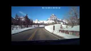 Drive to Two Medicine Lake in Glacier National Park in Real Time.