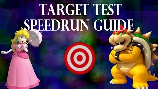 [SSBM] Break the Target Speedrun Guide | Peach & Bowser