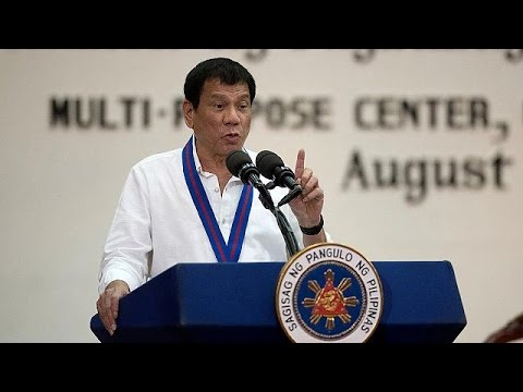 Philippine president threatens to quit UN over 'stupid' criticism of drug war - YouTube