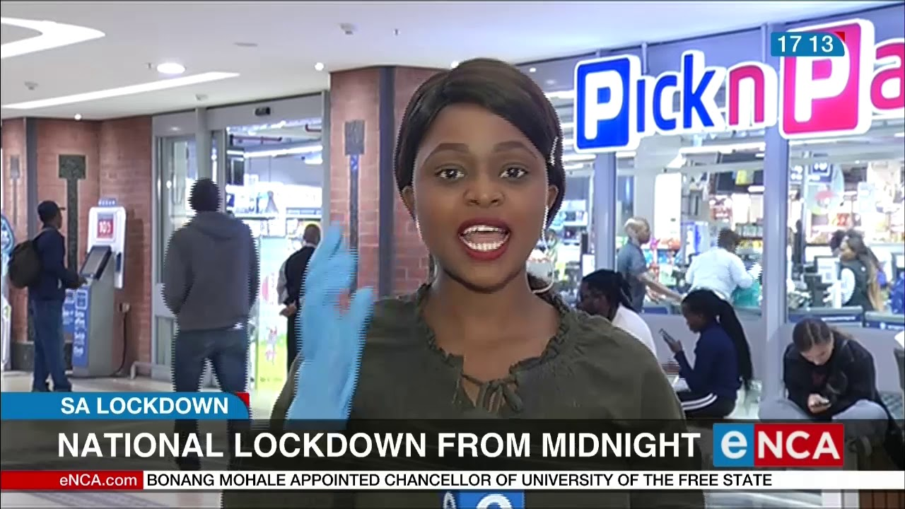 Hours before lockdown - eNCA