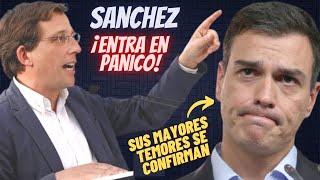"""ALMEIDA """"ACOJONA"""" a SÁNCHEZ y al PSOE con la PEOR NOTICIA que pueden recibir el 4-M"""