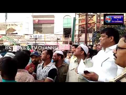 CHARMINAR CORPORATOR SOHAIL QUADRI PROTEST FOR POOR PUBLIC ON POLICE HARASSMENT.