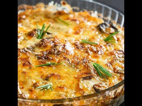 Plăcintă cu ciuperci și cartofi