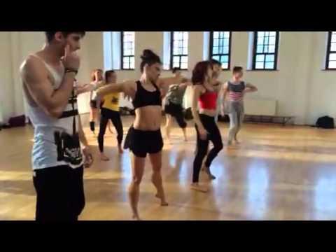 Jane Seymour Rehearsing Dance Scene in High Strung Movie
