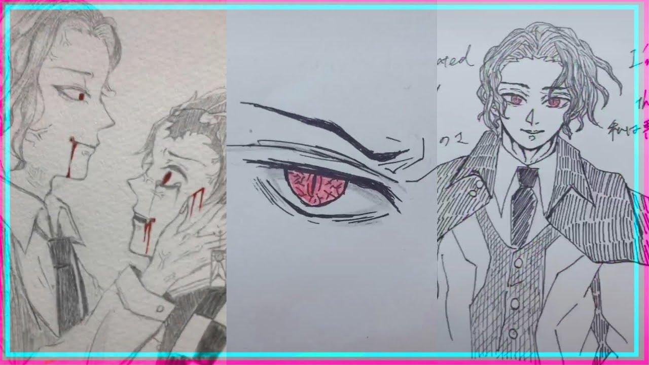 【ティックトック絵】 鬼滅の刃 / 鬼舞辻無惨 / Damon slayer 【イラストまとめ】  Tik Tok Painting/Drawing #18