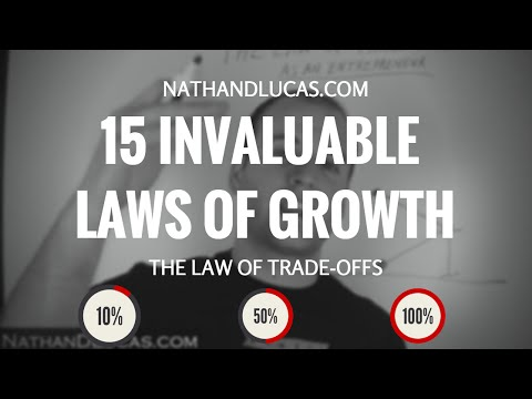 The 15 Invaluable Laws Of Growth - John C Maxwell - Law Of Trade Offs
