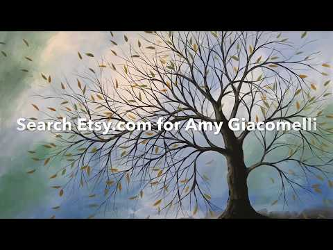Time Lapse Speed Painting art tutorial, Last Leaves by Amy Giacomelli thumbnail