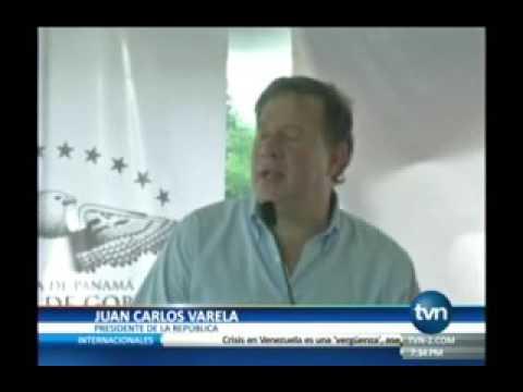 Tvn Presidente Juan Carlos Varela se molesto con grupo de estudiantes que en medio de su discurso se
