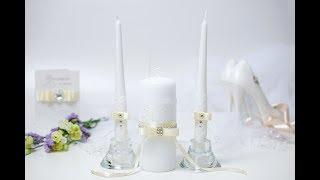 """Свадебные свечи своими руками, мастер-класс """"Classic"""" Bow"""