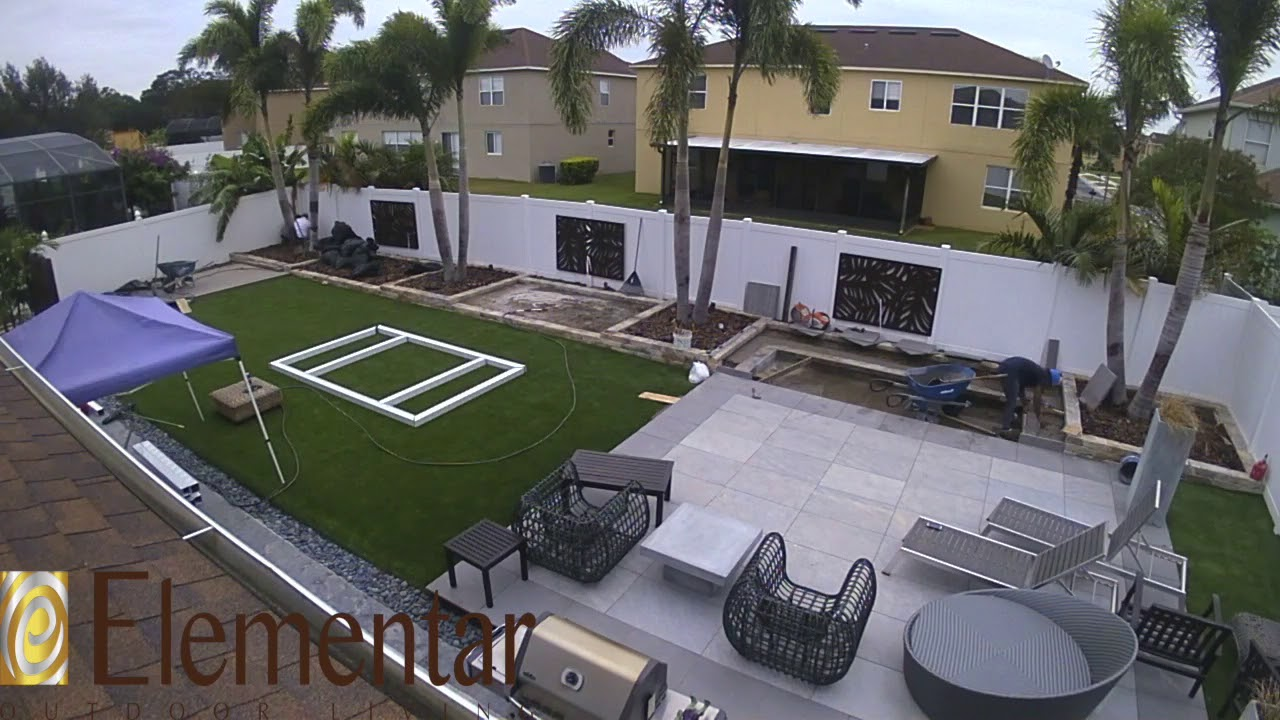 Backyard Renovation Timelapse - YouTube on Elementar Outdoor Living  id=83442