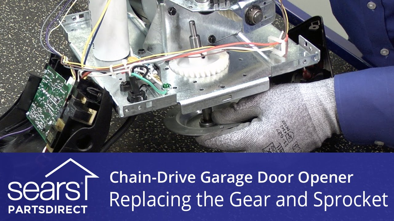 replacing the gear and sprocket assembly on a chain drive garage door opener youtube [ 1280 x 720 Pixel ]